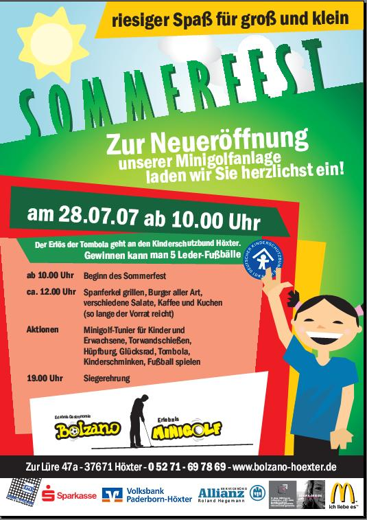 Sommerfest Minigolfanlage Höxter